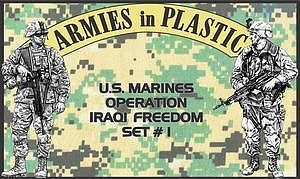 Armies In Plastic US Marines OIF Set #1 (18) -- Plastic Model Military Figure -- 1/32 Scale -- #5578