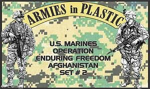 Armies In Plastic US Marines OEF Afghanistan Set #2 (18) -- Plastic Model Military Figure -- 1/32 Scale -- #5579