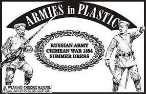 ArmiesInPlastic Crimean War 1854 Russian Army Summer Dress Plastic Model Military Figure 1/32 Scale #5582