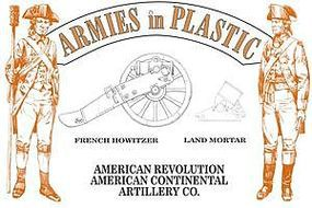 ArmiesInPlastic American Revolution Continental Artillery Co. Plastic Model Military Figure 1/32 #5600