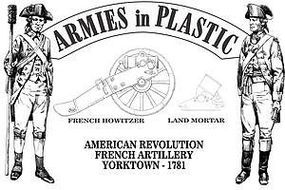 ArmiesInPlastic American Revolution Yorktown 1781 French Artillery Plastic Model Military Figure 1/32 #5601