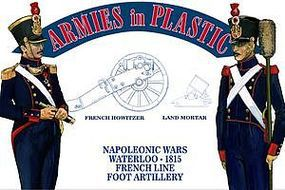 ArmiesInPlastic Waterloo French Line Foot Artillery Plastic Model Military Figure 1/32 Scale #5602