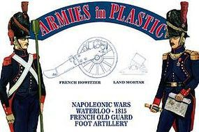 ArmiesInPlastic Waterloo French Old Guard Foot Artillery Plastic Model Military Figure 1/32 Scale #5603