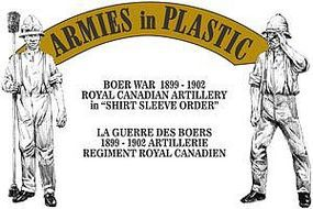 ArmiesInPlastic Royal Canadian Artillery Shirt Sleeve Order Plastic Model Military Figure 1/32 Scale #5605