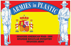 ArmiesInPlastic Spanish American War 1898 Spanish Regular Infantry Plastic Model Military Figure 1/32 #5612