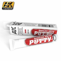 AK Modeling White Acrylic Putty 20ml Tube
