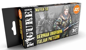 AK Figures Series- WWII German Italian Camouflage Acrylic Paint Set (6 Colors) 17ml Bottles