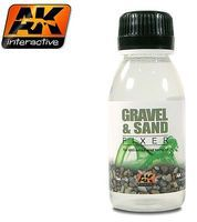AK Gravel & Sand Fixer Enamel 35ml Bottle Hobby and Model Enamel Paint #118