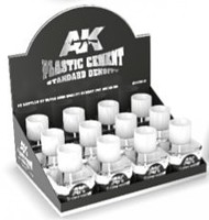 AK (bulk of 12) Plastic Cement Standard Density 40ml Bottles Display