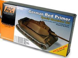 AK German Red Primer Special Modulation Acrylic Hobby and Model Paint Set #124