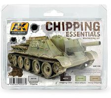 AK Chipping Essentials Weathering (4 Colors) 17ml Bottles Hobby and Model Acrylic Paint #138