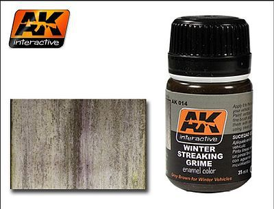 AK Interactive Winter Streaking Grime Enamel Paint 35ml Bottle -- Hobby and Model Enamel Paint -- #14