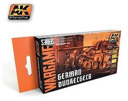 AK Wargame German Dunkelgelb Acrylic Hobby and Model Paint Set #1552