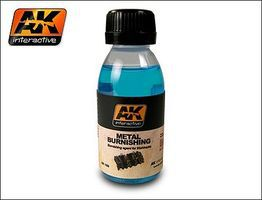 AK Metal Burnishing Fluid 100ml Bottle Hobby and Model Enamel Paint #159