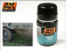 AK Fresh Mud Enamel Paint 35ml Bottle Hobby and Model Enamel Paint #16