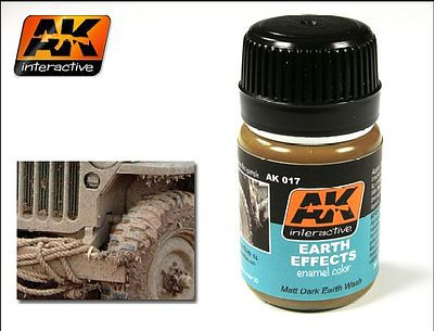 AK Interactive Earth Effects Enamel Paint 35ml Bottle -- Hobby and Model Enamel Paint -- #17