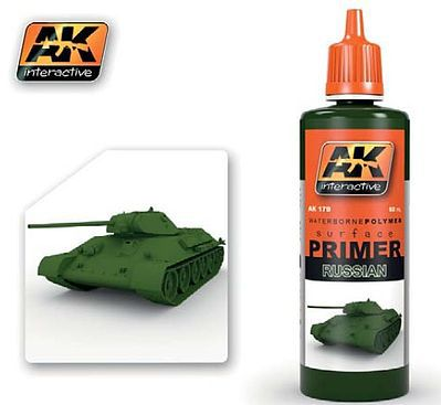AK Interactive Green (Russian) Acrylic Primer 60ml Bottle -- Hobby and Model Acrylic Paint -- #179