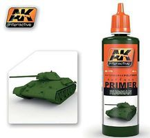 AK Green (Russian) Acrylic Primer 60ml Bottle Hobby and Model Acrylic Paint #179