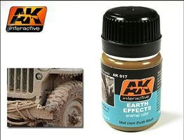 AK Earth Effects Enamel Paint 35ml Bottle Hobby and Model Enamel Paint #17