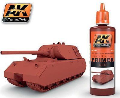 AK Interactive Red Acrylic Primer 60ml Bottle -- Hobby and Model Acrylic Paint -- #180