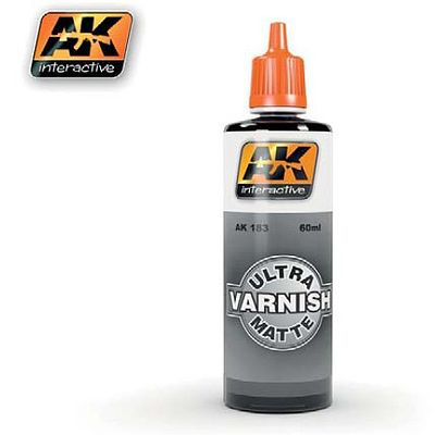 AK Ultra Matte Varnish 60ml Bottle Hobby and Model Acrylic Paint #183