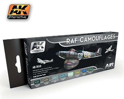 AK Air Series RAF Camouflages Acrylic Hobby and Model Paint Set #2010