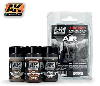 AK Air Series Aircraft Landing Gear Weathering Set Hobby and Model Paint Set #2030