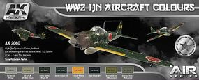 AK AIR Series WWII IJN Aircraft Colors Hobby and Model Paint Set #2060