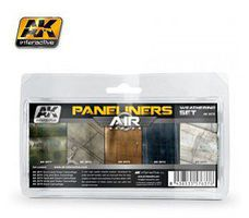 AK Panel Liners Weathering Combo Enamel Paint (5 Colors) Hobby and Model Paint #2070