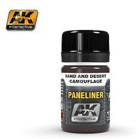 AK Air Series Panel Liner for Sand & Desert Camouflage Hobby and Model Acrylic Paint #2073