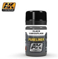AK Air Series- Panel Liner for Black Camouflage 35ml Bottle Hobby and Model Enamel Paint #2075