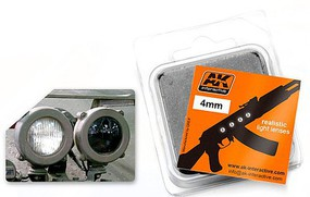 AK 4mm White Light Lenses (4) Plastic Model Vehicle Accessory #215