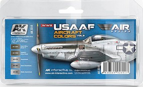 AK Air Series- WWII USAAF Aircraft Vol.2 Acrylic Paint Set (5 Colors)