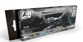 AK Air Series- Soviet Aircraft Colors 1941-1945 Acrylic Paint Set (8 Colors) 17ml Bottles