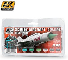 Soviet Aircraft Colors 1950-1970 Paint Set (6 Colors) Hobby and Model Paint #2300