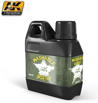 AK Washable Agent to Convert Acrylic Paint to Washable 100ml Hobby and Model Paint Supply #236