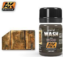 AK Wash for Wood Enamel Paint 35ml Bottle Hobby and Model Enamel Paint #263