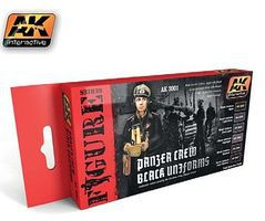 AK Panzer Crew Black Uniforms Acrylic Hobby and Model Paint Set #3001