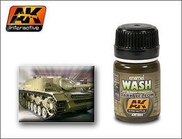 AK Dark Yellow Wash Enamel Paint 35ml Bottle Hobby and Model Enamel Paint #300