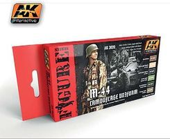 AK Figure Series M44 Camouflage Uniform Acrylic Hobby and Model Paint Set #3020