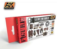 AK Figure Series Leather & Buckles Acrylic Hobby and Model Paint Set #3030