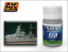 AK Kriegsmarine Ships Grey Wash Enamel Paint 35ml Bottle Hobby and Model Enamel Paint #303