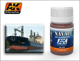 AK Red Hulls Brown Streaking Grime Enamel Paint 35ml Bottle Hobby and Model Enamel Paint #304