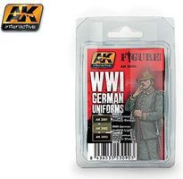 AK Figure Series WWI German Uniforms Acrylic Hobby and Model Paint Set #3090
