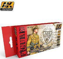 AK DAK Soldier Uniform Colors Acrylic Paint Set (6 Colors) Hobby and Model Paint #3110