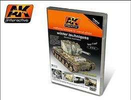 AK Winter Weathering Techniques for Invernal Vehicles DVD Hobby Model DVD #35