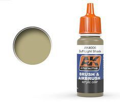AK Buff Light Shade Acrylic Paint 17ml Bottle Hobby and Model Acrylic Paint #4006