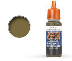AK Buff Dark Shade Acrylic Paint 17ml Bottle Hobby and Model Acrylic Paint #4007