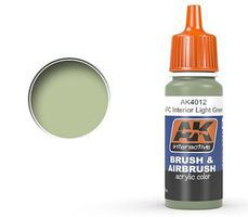 AK APC Interior Light Green Acrylic Paint 17ml Bottle Hobby and Model Acrylic Paint #4012