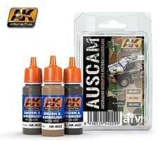 AK Australian Camouflage Acrylic - Hobby and Model Enamel Paint Set #4020
